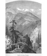 CALIFORNIA Sierra Nevada Mountains Peaks by Thomas Moran - 1883 German P... - $17.55