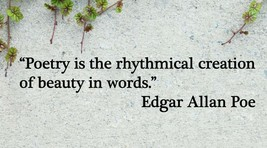 Edgar Allan Poe Poetry is the Creation of Beauty Quote Vinyl Wall Sticker Decal - $14.99+