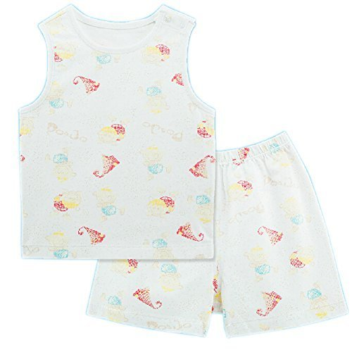 Baby Toddler Underwear Set Infant Vest&Shorts 2 Pieces Printing White 6-9M