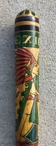 "Hand Carved Painted AZTEC PIÑATA STICK 23"" Mexican Wooden Baseball Bat M... - $33.20"