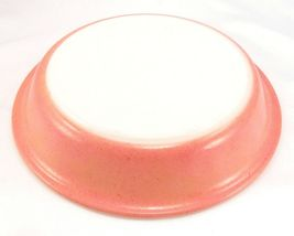 """Pyrex 209 Speckled Flamingo Pink Milk Glass Pie Plate 8½"""" Vintage Made in USA image 3"""