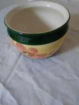 Small Vintage Flower Patterned Pot Made in Portugal Indoor/Outdoor Use  image 2