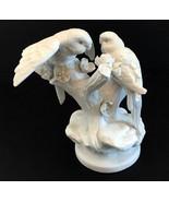 Ardalt Porcelain Biscuit Spain Parakeets Parrots Birds Figurine Spain - $392.00