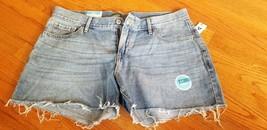 "NEW Old Navy women's cutoff jean shorts 3.5"" inseam low rise medium wash 10 NWT - $28.04"