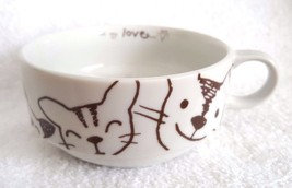 Vintage Cat Kittens Cup Mug Saucer ALL MY LOVE Made in Japan VERY CUTE! - $12.95
