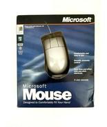 Vintage Microsoft 94424 Computer Mouse Comfortable, Smooth, White, 95, V... - $28.04