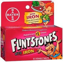 Flintstones Chewable Tablets with Iron - 60 ct, Pack of 2 - $25.78