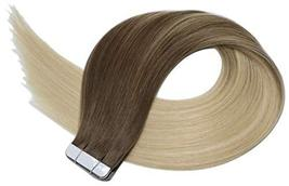 14Inch Tape in Hair Extensions Skin Weft Real Human Hair Extensions Double Sided image 4
