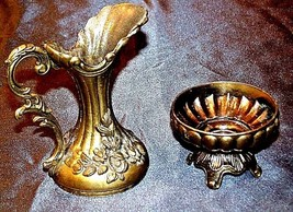 Brass PitcherItalyAA18-1337 Vintage (2 Piece) image 2