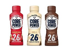 Core Power by Fairlife High Protein, 26g Protein, 3 Flavor Variety Pack, Milk Sh