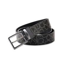 Calvin Klein Men's Reversible 35mm CK Logo Genuine Leather Belt Black 75231