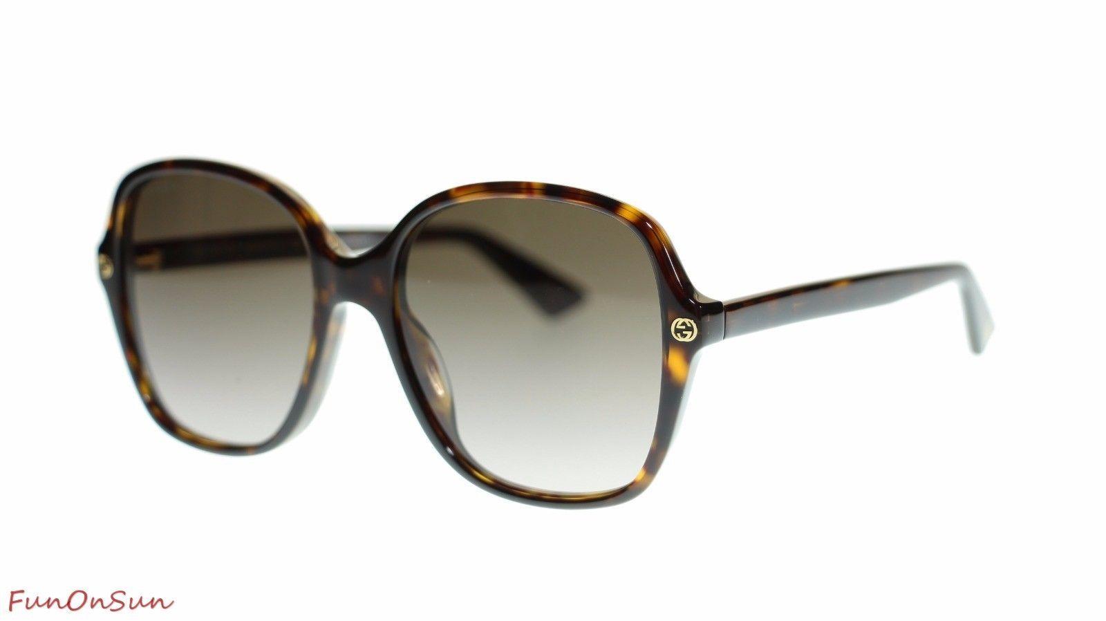 3f9c13d7eb0 S l1600. S l1600. Previous. Gucci Women Square Sunglasses GG0092S 002 Havana Brown  Lens 55mm Authentic