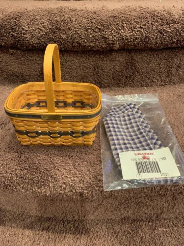 Longaberger Collectors Club 1996 J W Miniature Market Basket w/ Liner