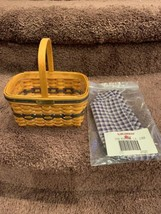 Longaberger Collectors Club 1996 J W Miniature Market Basket w/ Liner - $45.00