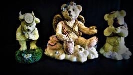 Trio of Boyd's Bears & Friends Figurines 1)Petals-Juliette 2) Angel Bear... - $34.99