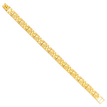 Men's 14K Yellow Gold Flat Nugget Bracelet image 1