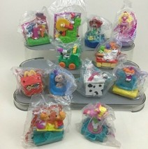McDonalds Happy Birthday Toy Figures Lot 12pc Vintage 1994 Barbie Muppet... - $17.77
