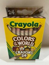 Crayola Colors of the World Crayons 24 pc Skin/Hair/Eyes/Multicultural/Diversity - $5.88
