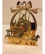 "1988 ""Christmas Coach"" Danbury Mint Gold Christmas Ornament  - $14.95"