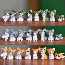 MENGXIANG Fairy Garden Terrarium Cheese Cat Decoration 8Pcs - $13.95