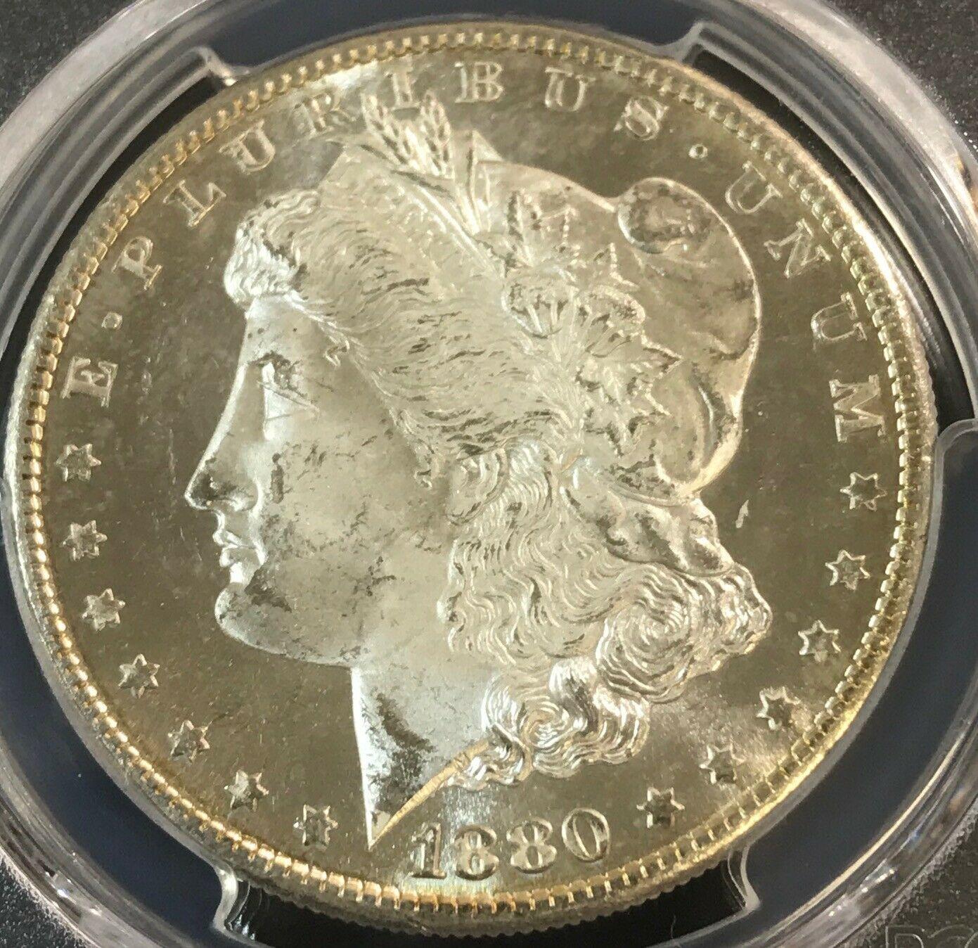 1880-S Morgan Silver Dollar PCGS MS64DMPL Deep Mirror Proof Like