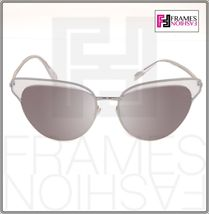 OLIVER PEOPLES JOSA OV1187 Silver Clear Crystal Mirrored Sunglasses Cat Eye 1187 image 8