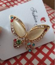 Butterfly Brooch for Women Rhinestone Broches Fashion Bijouterie Wedding Jewelry - $11.56