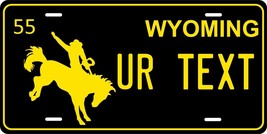 Wyoming 1955 License Plate Personalized Custom Auto Bike Motorcycle Moped Tag - $10.99+