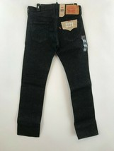 Men Levi 501 original stretch fit straight leg button fly black jean 30 X 32 New - $34.19