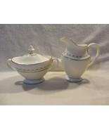 Royal Doulton England Tiara Bone China Creamer & Sugar Bowl Set H4915 - $21.95