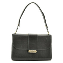 CHRISTIAN DIOR Leather Shoulder Bag Black Auth 8730 - $210.00