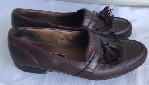 296b53a3b3b BRAGANO by COLE HAAN Made In Italy Dark Brown LEATHER TASSEL LOAFERS Size  11.5