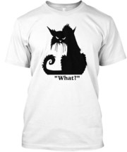What Black Cat T Gift Lover - What? Hanes Tagless Tee T-Shirt - £17.45 GBP