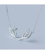 Elk antlers 925 sterling silver pendant necklace - ₨1,798.29 INR