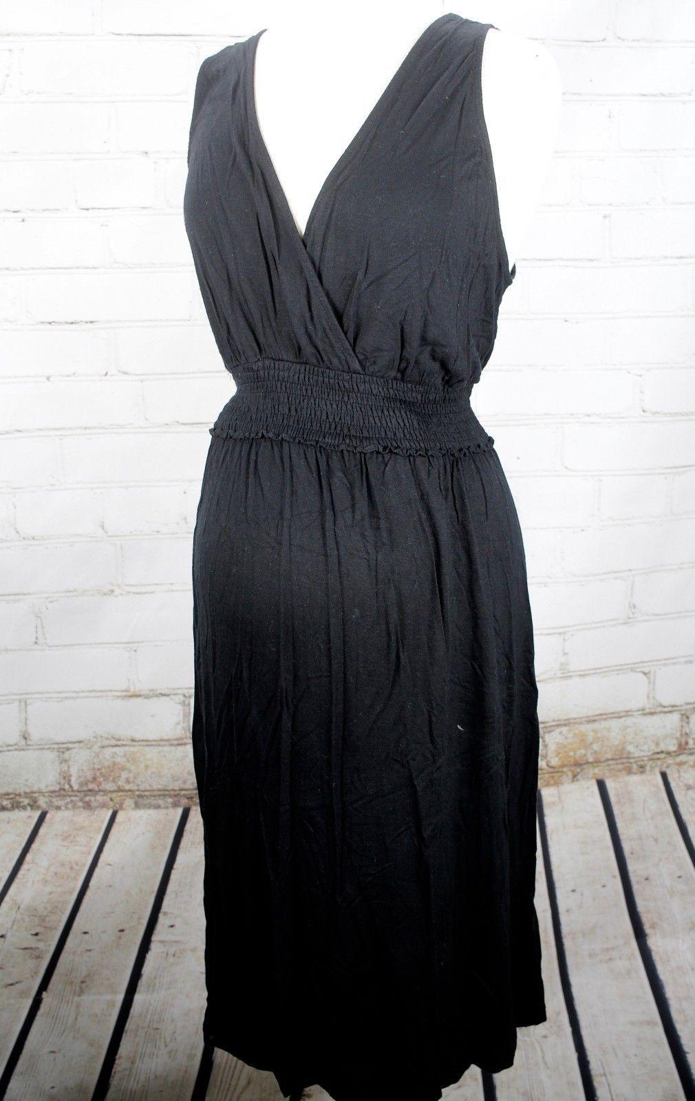 b584d2def55df 57. 57. Previous. Liz Lange Maternity Sleeveless Dress V-Neck Wrap Size  Large Knit Stretch Nursing