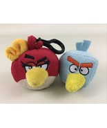 Angry Birds Plush Stuffed Ruby Girl Bird Clip On Blue Ice Puppet Lot Rov... - $17.77