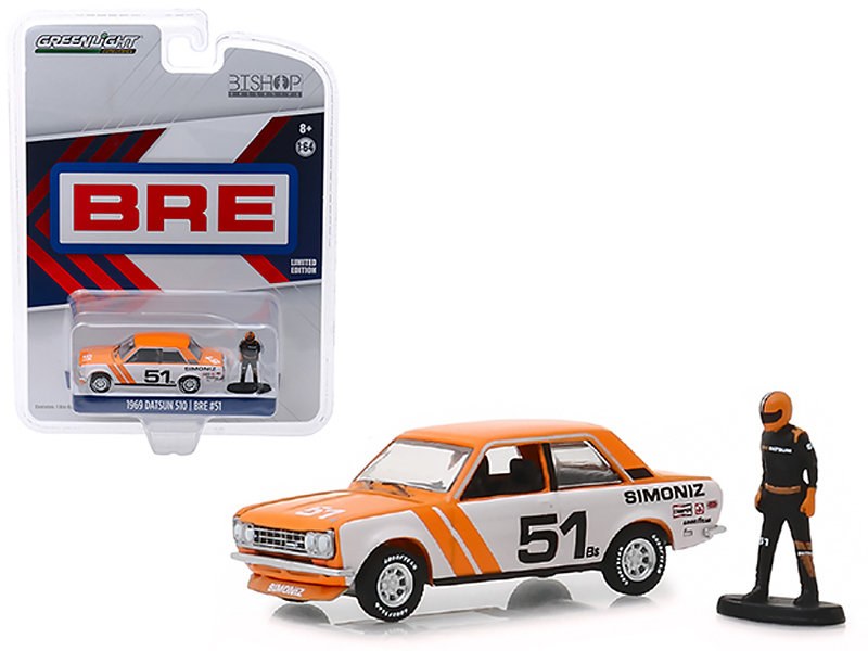 "1969 Datsun 510 #51 ""Simoniz\"" BRE (Brock Racing Enterprises) with Race Car Dri - $19.48"