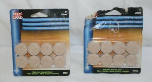 Shepherd 9952 Heavy Duty Felt Pads 1 Inch 2 Packages 16 Each 32 Total