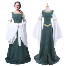 Medieval Renaissance Bell Sleeve Celtic Queen Dress Party Gown Cosplay C... - $40.99