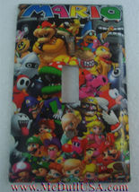 Super Mario All Characters Light Switch Outlet Wall Cover Plate Home decor image 1