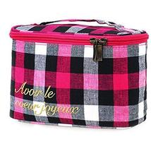 Cosmetic Storage Bag Grid Lines Jewelry Pouch