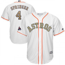 Men's Houston Astros #4 George Springer Jersey Champion Gold White - $59.00