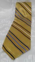 Robert Talbott Silk Tie Best of Class Gold Multi Color Striped Mens Neck... - $14.52