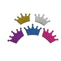 Royal Crown Glitter Wood Favors, 1-1/2-Inch #PS_15850 (10, Turquoise) - $12.87