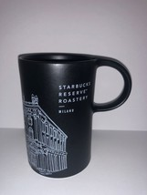 Starbucks Reserve Roastery Milan Milano Illustration Black Coffee Mug New - $31.67