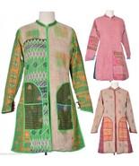 10 Vintage kantha Long Jackets Reversible Gudri Rally Coat Sherwani JK4 - $237.50