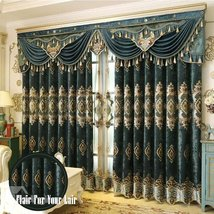 Royal High Quality Soft Chenille Decorative and Blackout Curtain for Liv... - $132.95+