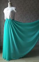Aline Chiffon Maxi Skirt High Waisted Wedding Chiffon Skirt Purple Green Pink image 9