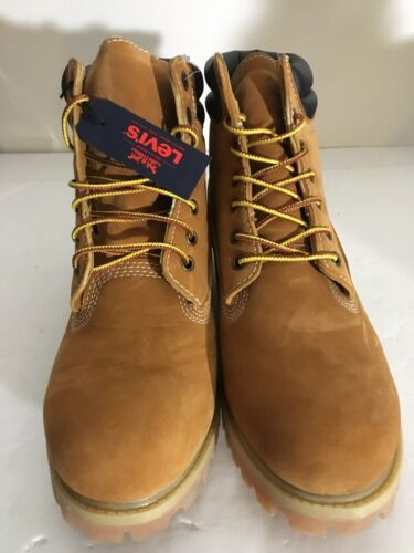 Primary image for New LEVI'S Size 10 M Fremont Wheat Harrison Nubuck Men's Work Boots RETAIL $126