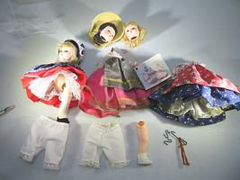 Vintage 3 MADAME ALEXANDER Miniature Series Dolls not complete 4 legs mi... - $25.00